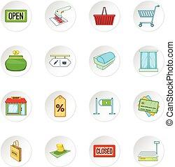 Retail icons set