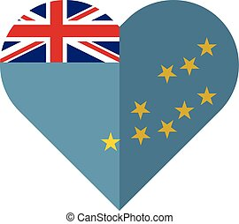 Tuvalu flat heart flag