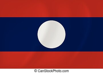 Laos waving flag - Vector image of the Laos waving flag