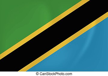 Tanzania waving flag - Vector image of the Tanzania waving...