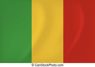 Mali waving flag - Vector image of the Mali waving flag
