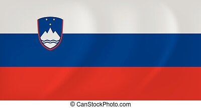 Slovenia waving flag - Vector image of the Slovenia waving...