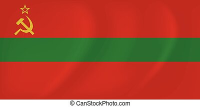 Transnistria waving flag - Vector image of the Transnistria...