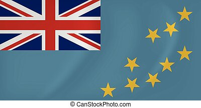 Tuvalu waving flag - Vector image of the Tuvalu waving flag