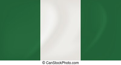 Nigeria waving flag - Vector image of the Nigeria waving...