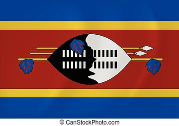Swaziland waving flag - Vector image of the Swaziland waving...