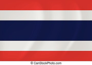 Thailand waving flag - Vector image of the Thailand waving...
