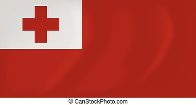 Tonga waving flag - Vector image of the Tonga waving flag