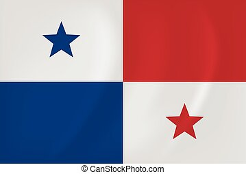 Panama waving flag - Vector image of the Panama waving flag