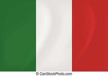 Italy waving flag - Vector image of the Italy waving flag