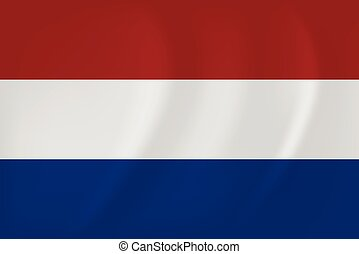 Netherlands waving flag