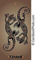 Gecko lizard in tattoo style - Gecko lizard in in tattoo...
