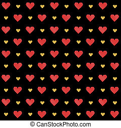 Vector Valentines day seamless pattern background with...