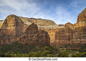 Rock Formations in Zion National Park - Utah