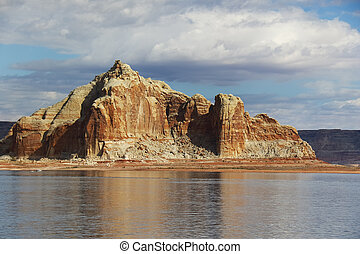 Rock Formation along the shore of Lake Powell