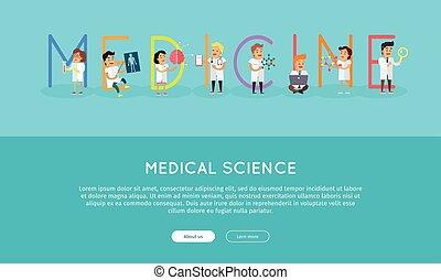 Medicina, Ciencia, alfabeto, bandera