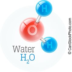 Chemistry model of molecule water scientific elements....