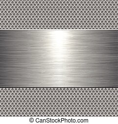 Metallic plate background
