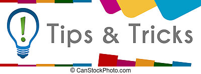 Tips And Tricks Bulb Abstract Colorful Shapes - Tips and...