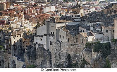 Cuenca (Spain), casas colgadas - Cuenca (Castilla-La Mancha,...