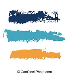 vector brush strokes of paint 12