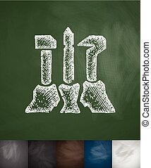 Symbol of workers, farmers and intellectuals icon. Hand...