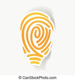 realistic design element: fingerprint