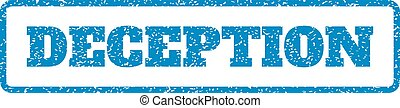 Deception Rubber Stamp - Blue rubber seal stamp with...
