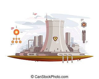 Powerful nuclear reactor at power plant to provide...
