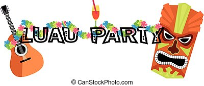 Luau graphic header - Banner for a luau party with a...