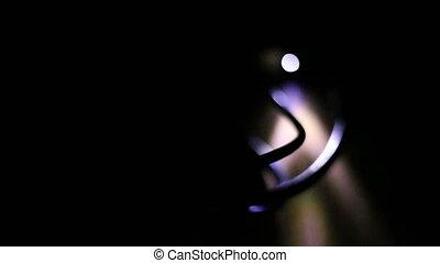 Soft focused data transfer light at night