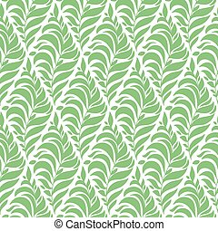 Vector Seamless Spring Pattern with Green Branches