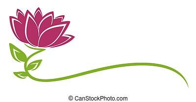 Logo purple flower. - The logo of a stylized flower.