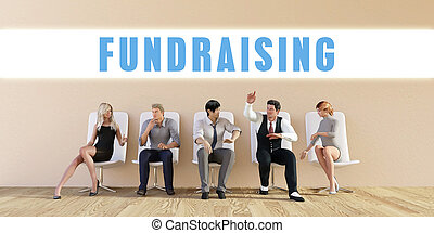 Business Fundraising Being Discussed in a Group Meeting