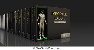 Imported Labor Endless Supply of Labor in Job Market Concept