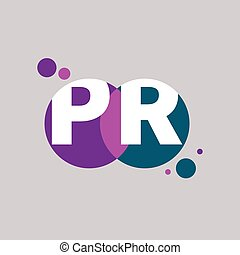 Vector icon pr - Initials pr. Logo of public relations. Icon...