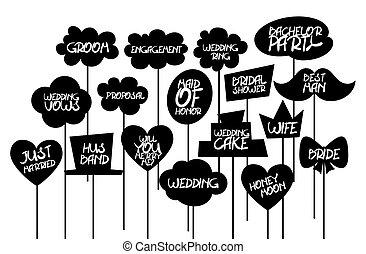 Doodle comic speech bubble black vector. Props label photo...
