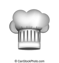 realistic silhouette of chefs hat with details vector...