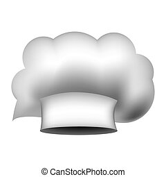 realistic silhouette of chefs hat irregular vector...