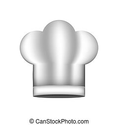 realistic silhouette of chefs hat shading vector...