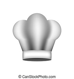 realistic silhouette of chefs hat vector illustration