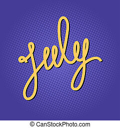 Text July on Lilac Pop Art Background - Text July on Pop Art...