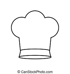 contour of chefs hat small vector illustration