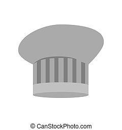 gray scale silhouette of chefs hat with lines vector...
