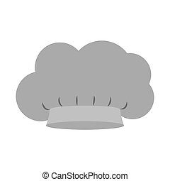 gray scale silhouette of chefs hat vector illustration