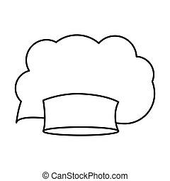 contour of chefs hat irregular vector illustration