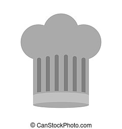 gray scale silhouette of chefs hat large vector illustration