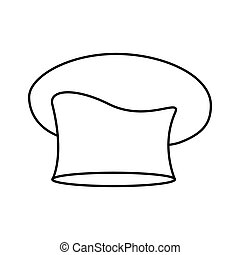 contour of chefs hat oval vector illustration