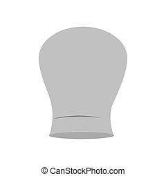 gray scale silhouette of chefs hat rounded vector...