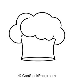 contour of chefs hat in irregular shape vector illustration
